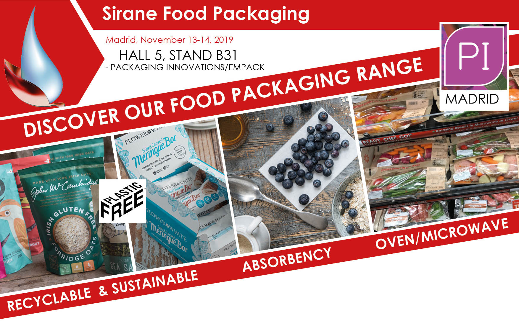 Sirane will be exhibiting at Packaging Innovations Madrid
