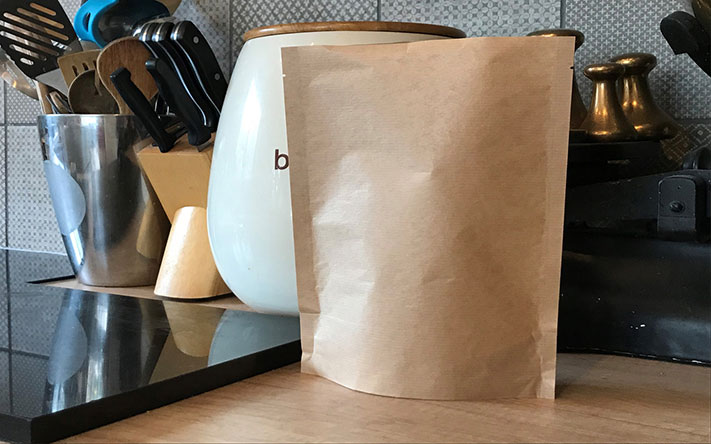 High barrier Earthpouches - plastic-free and recyclable