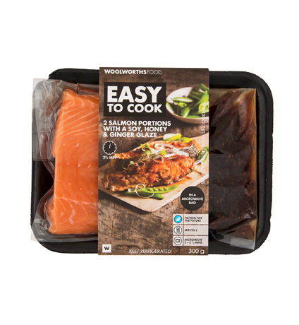 Woolworths Easy Cook range using the Smart-Release bag