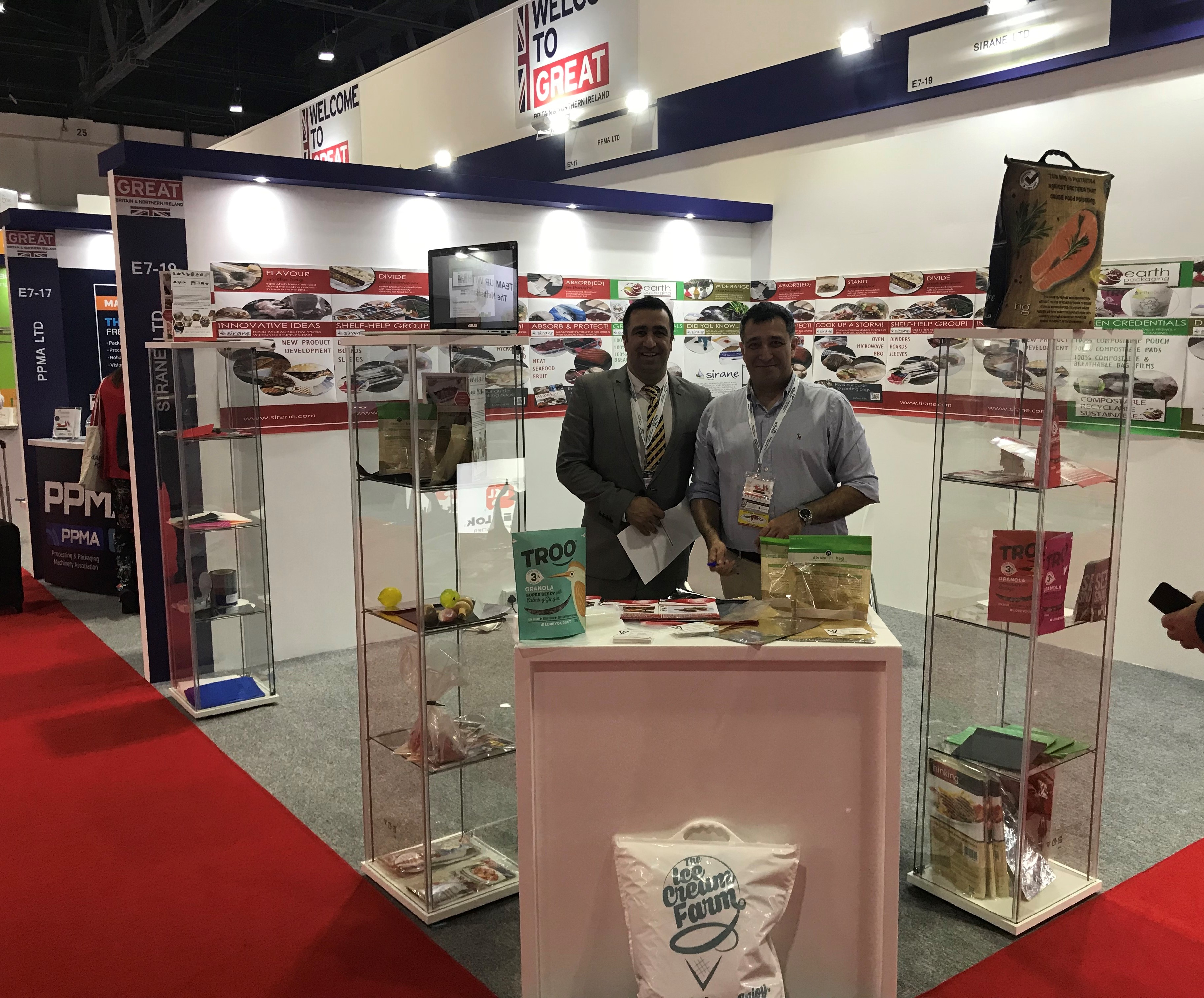 Sirane's stand at Gulfood Manufacturing in Dubai