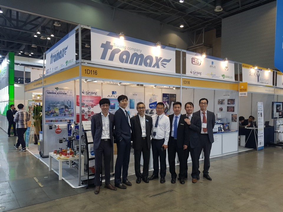 The Tramax team at Korea Pack, where's our food packaging range was on show
