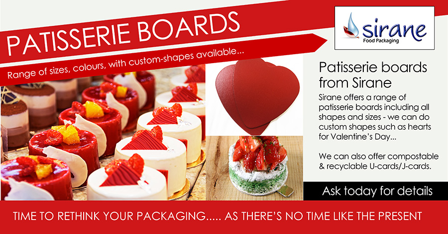 Patisserie boards from Sirane - part of our Sira-Board rnage