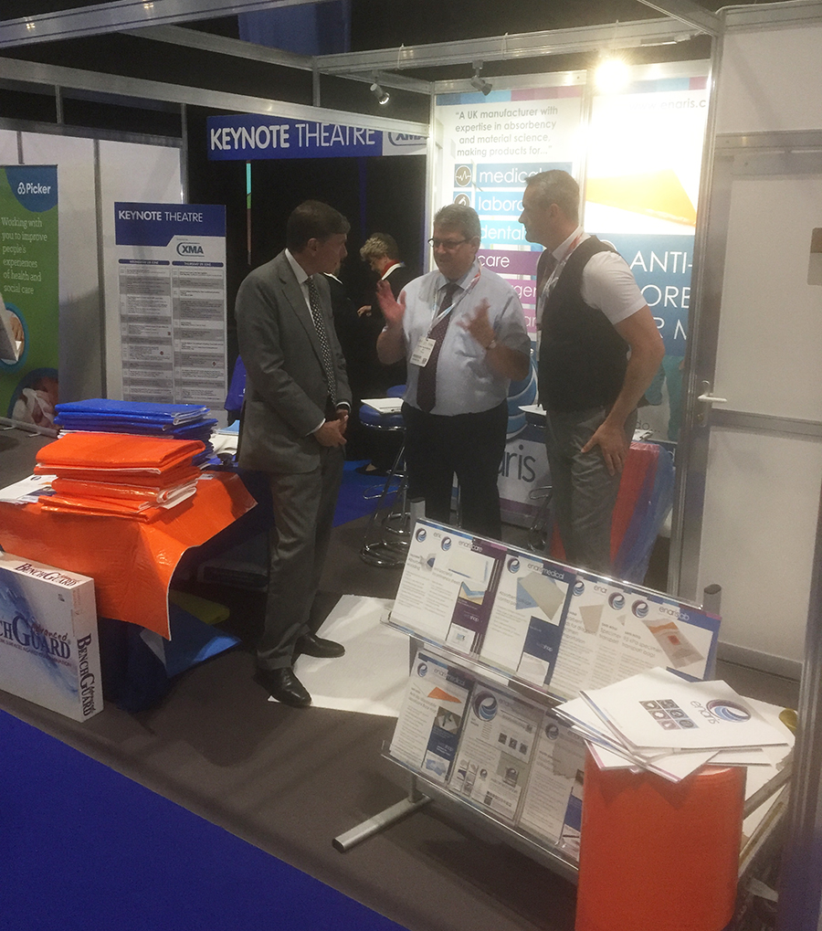 Philip Dunne, Minister of State for Health, was among the visitors to the Enaris stand