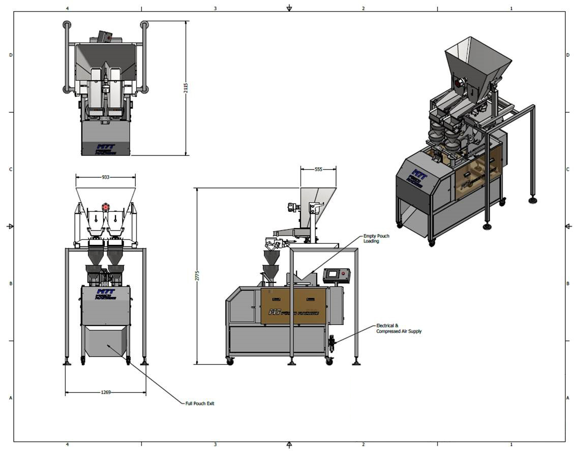 Pouch-filling line - auto-fill machines