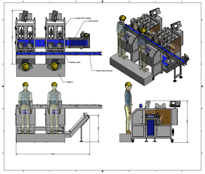 Pouch-filling line - machines - hand-fill