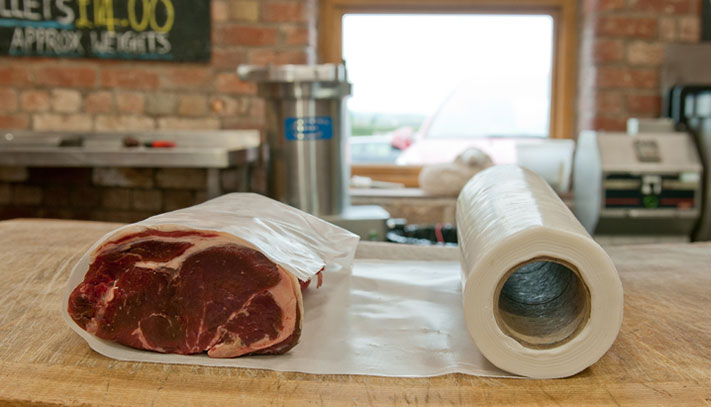 Sticky boneguard for protecting meat and poultry during transportation