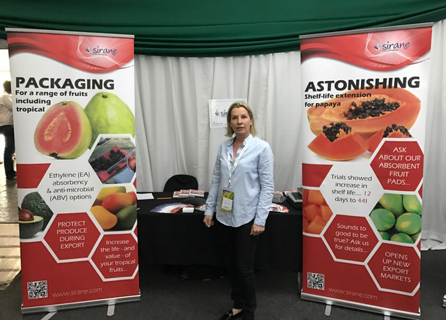 Stacey Loader on Sirane Southern Africa's stand at SubTrop 2017