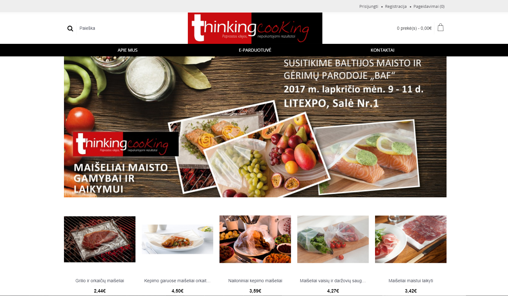 Thinking-Cooking will exhibit at the Baltic Food and Beverage Exhibition