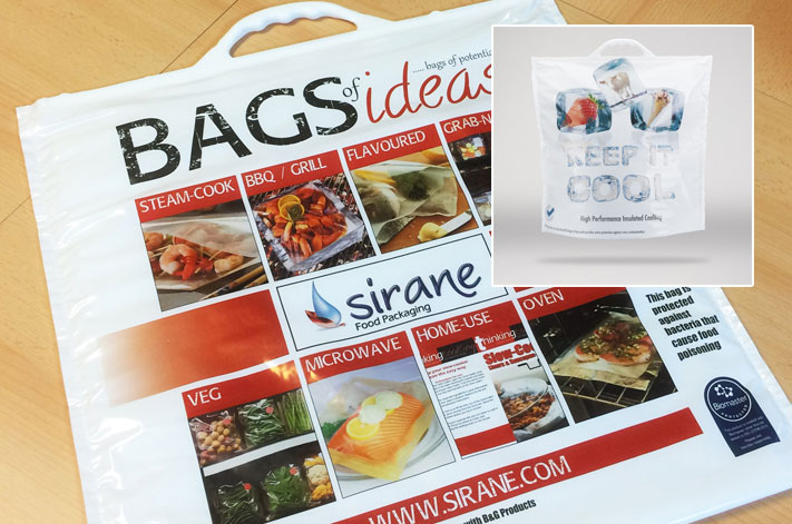 Thermally-insulated shopping bags - including anti-bacterial