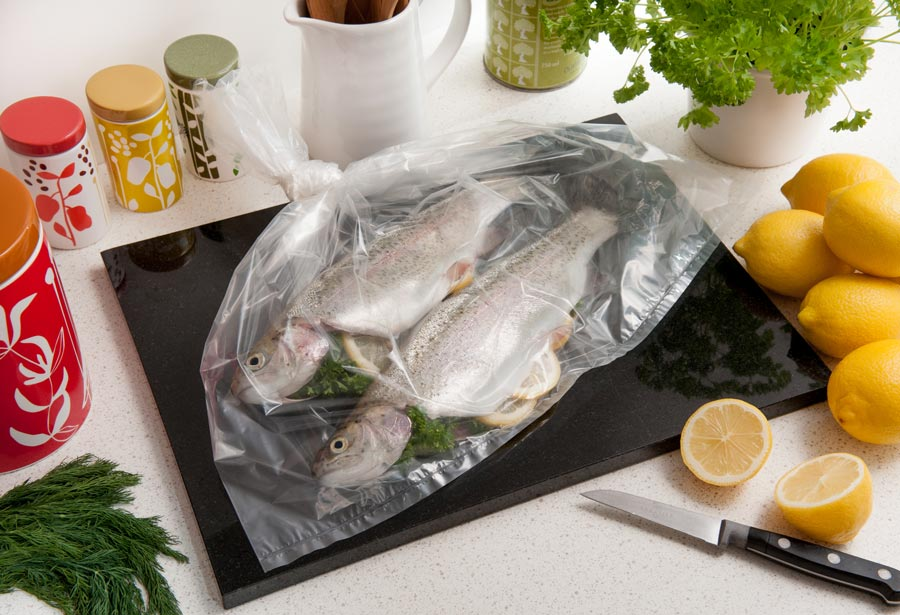 Cooking bag solutions for seafood & fish