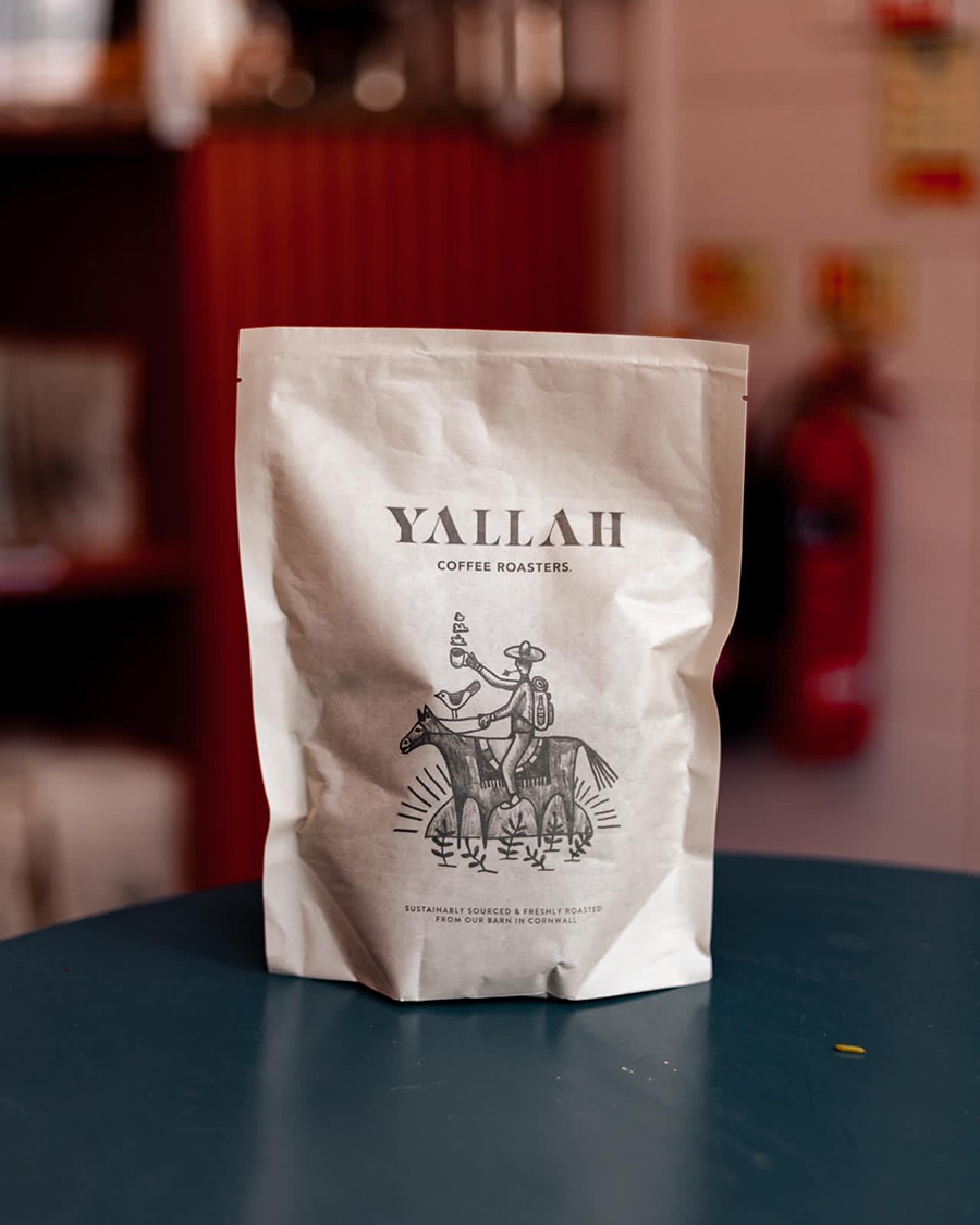 Yallah's plastic-free coffee packaging